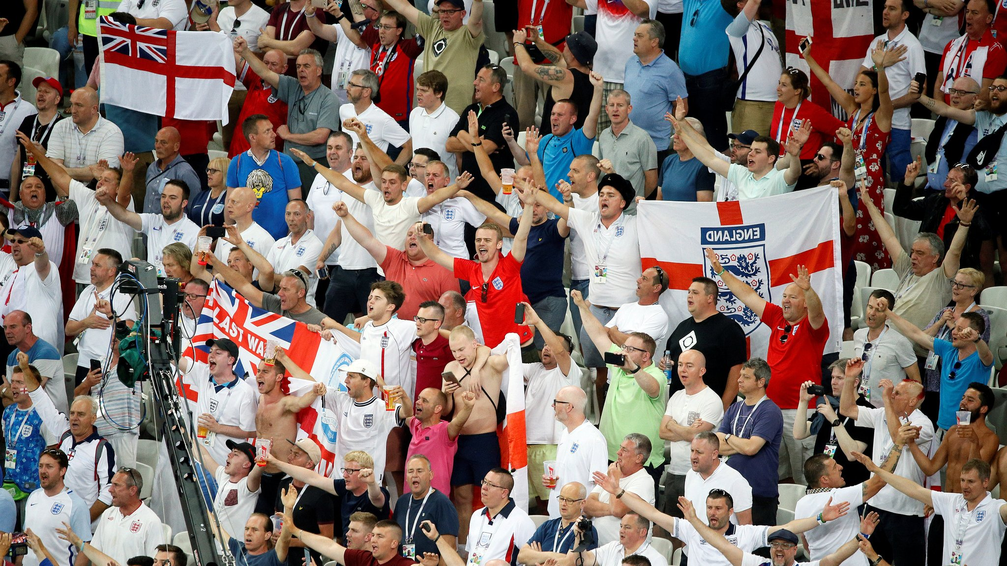 World Cup 2018: FA condemns England fans' anti-Semitic chants