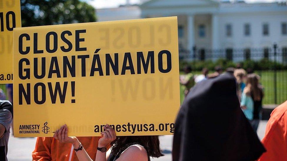 مظاهرة للمطالبة بإغلاق معتقل غوانتانامو