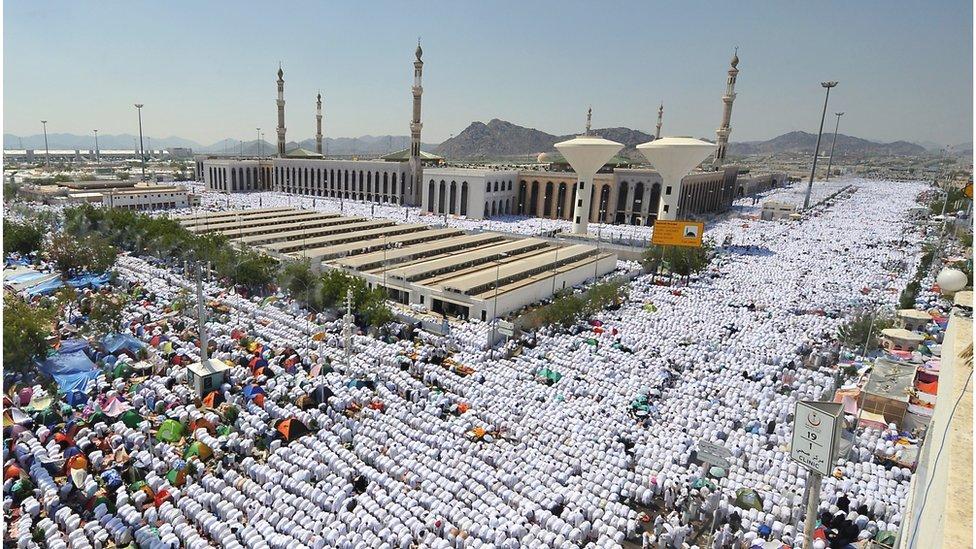 Pilgrims in Mecca