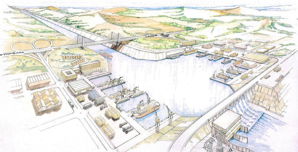 Drawing of Transaqua plan