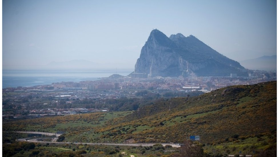 The rock in Gibraltar