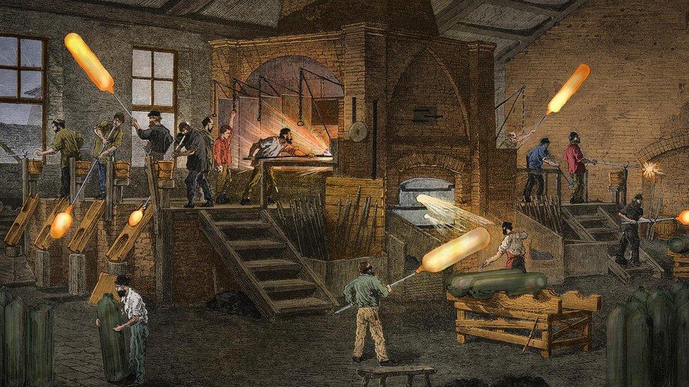 Trabajadores, ilustración