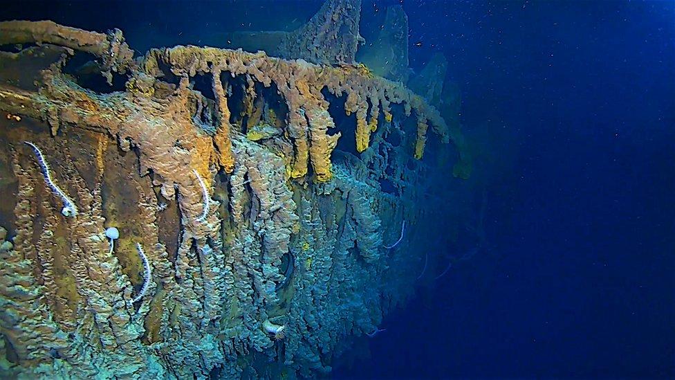 Restos del Titanic.
