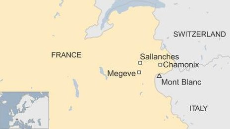 French Alps map