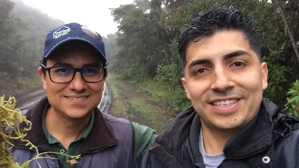 Gentileza Óscar Pérez Escobar junto a su colega Diego Bogarin