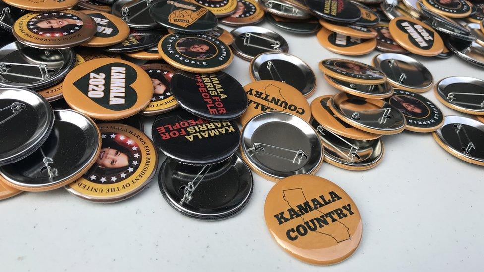 "button that says ""Kamala Country"""