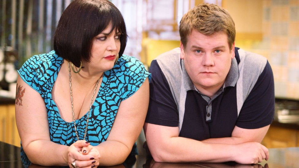 Ruth Jones and James Corden appearing in Gavin and Stacey
