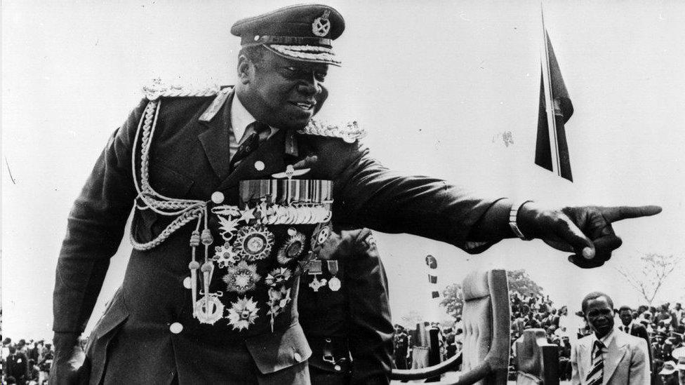 烏干達領導人伊迪·阿明資料圖片