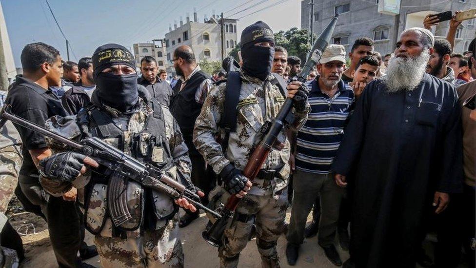 Islamic Jihad militants in Gaza (14/11/19)