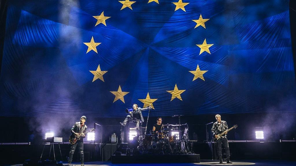 U2 in concert in Berlin