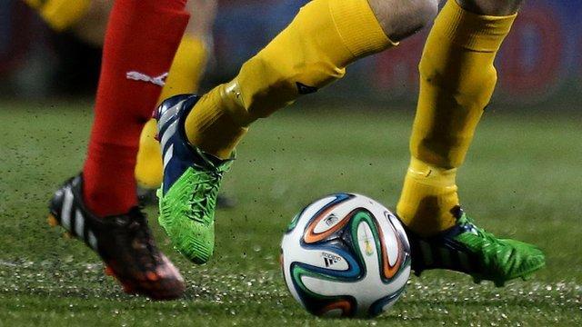 Football match action