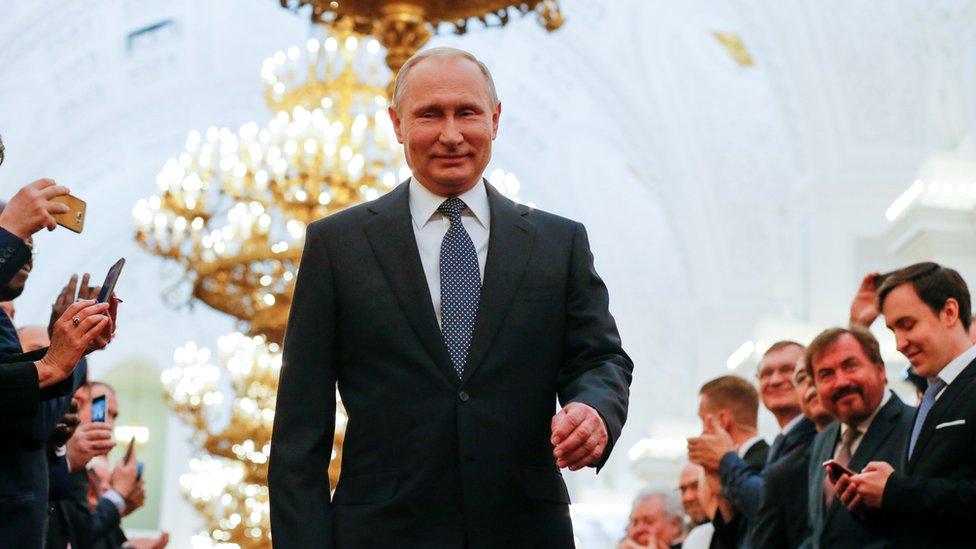 普京今年再次贏得選舉,開始他第四個總統任期。