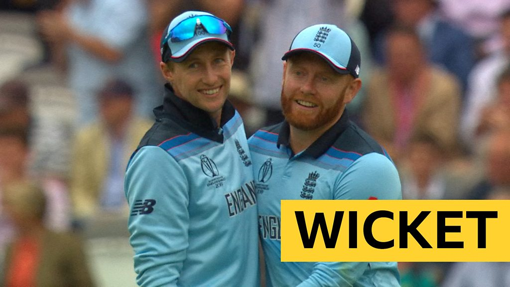 Cricket World Cup: Australia's David Warner is caught by Joe Root for England's first wicket