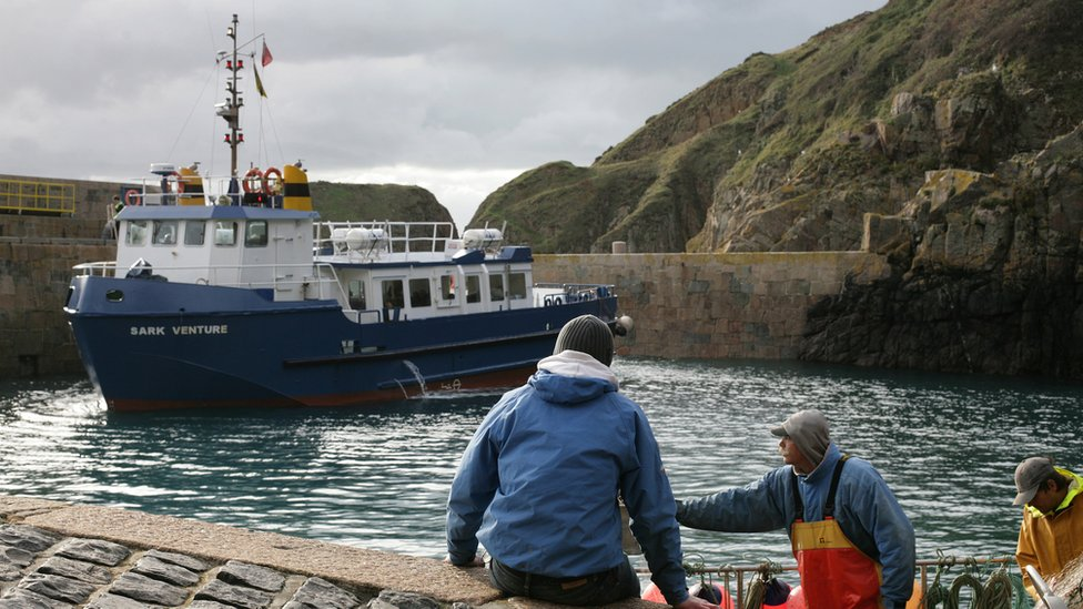 Sark Ferry in the Creux Harbour