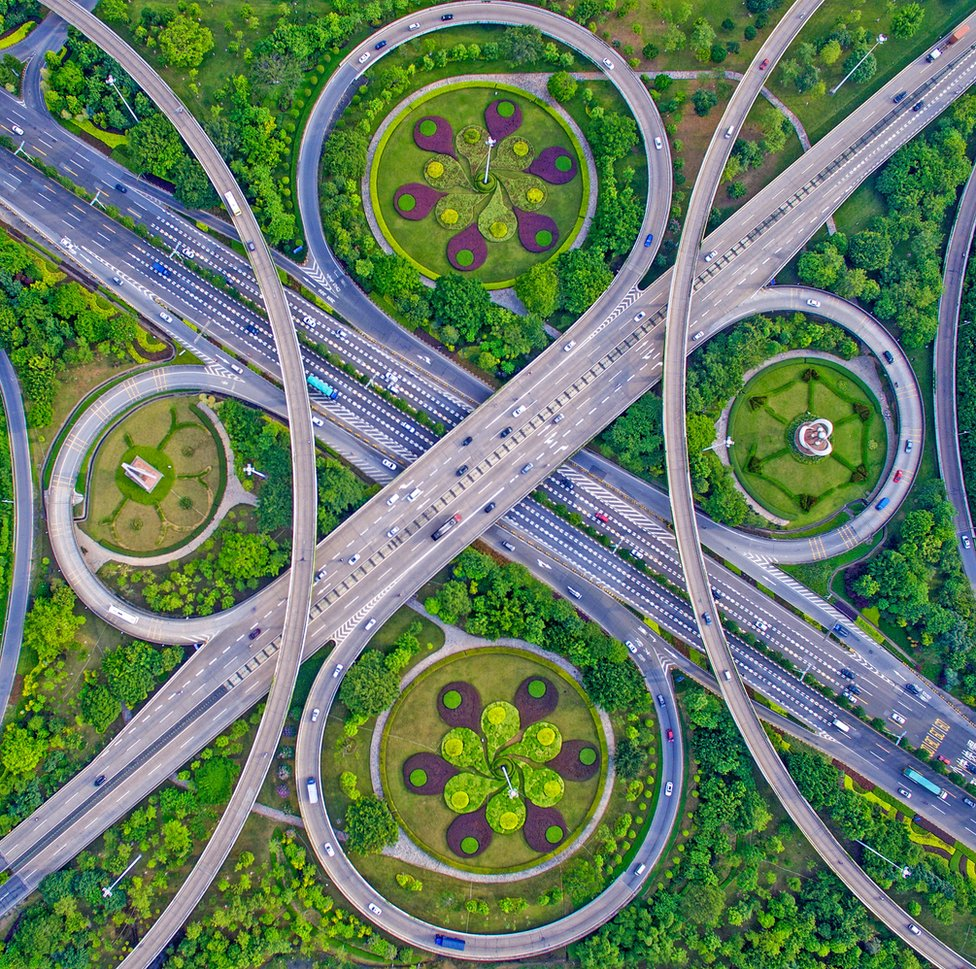 Roads in Guangdong, China