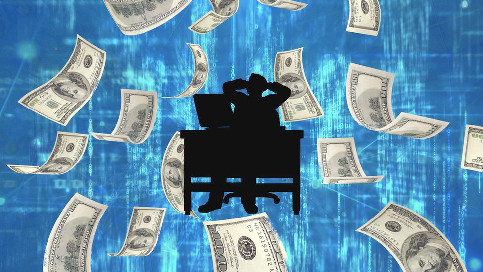 hacker with money