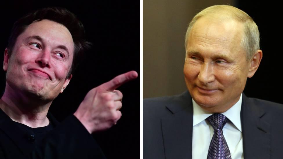 Elon Musk ve Vladimir Putin