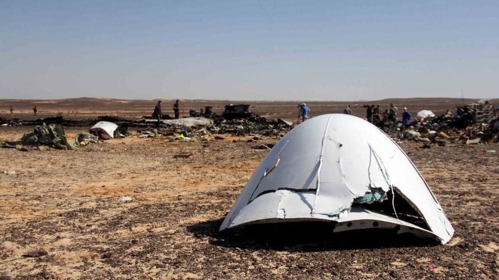 Site of Russian airline debris in Hassana, Egypt