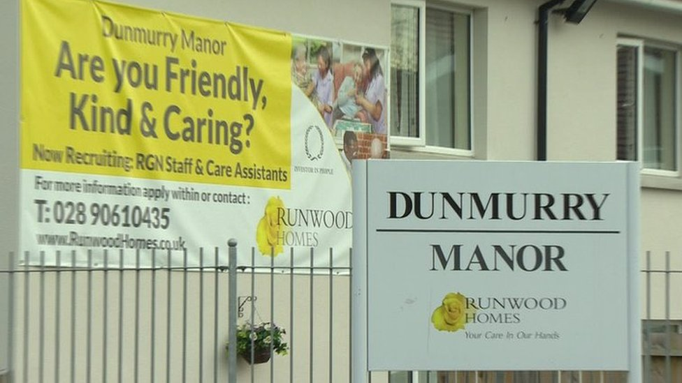 Dunmurry Manor: Care home families contacted by police