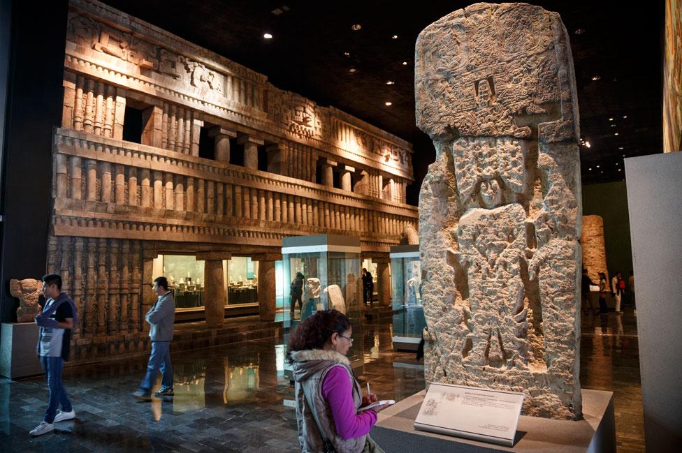 La sala Maya en el Museo Nacional de Antropología de México.