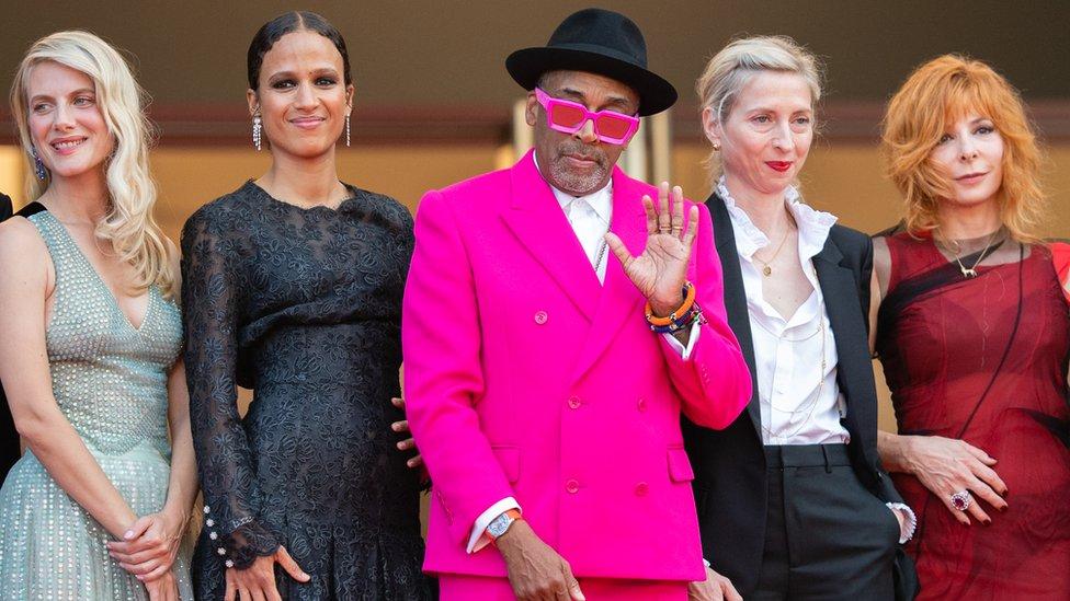 Melanie Laurent, Mati Diop, Spike Lee, Jessica Hausner, Mylene Farmer (left to right) on opening night