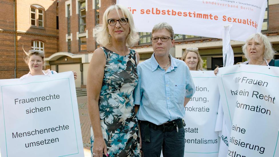 Doctors Bettina Gaber (L) and Verena Weyer, 14 Jun 19