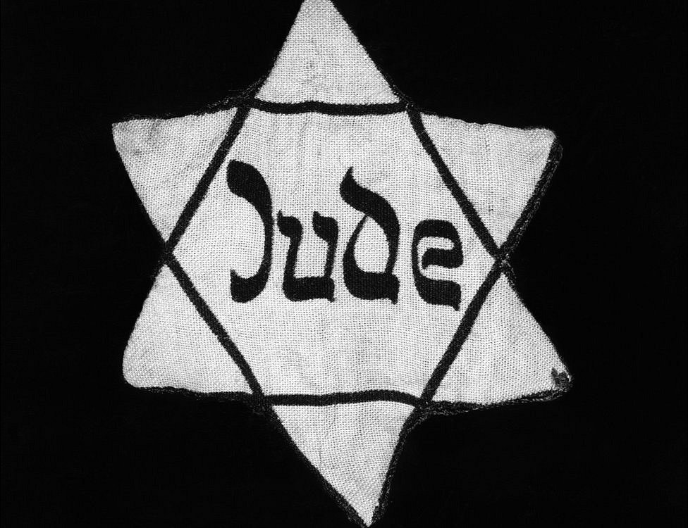 Estrella de David con la que los nazis marcaban a los judíos