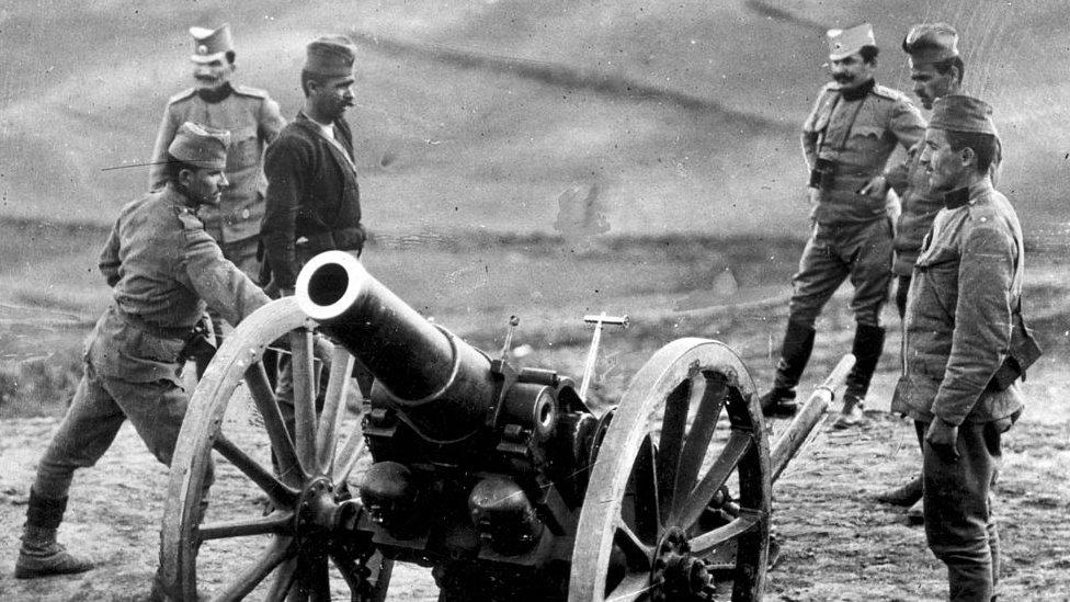 Serbios durante la Primera Guerra Mundial.