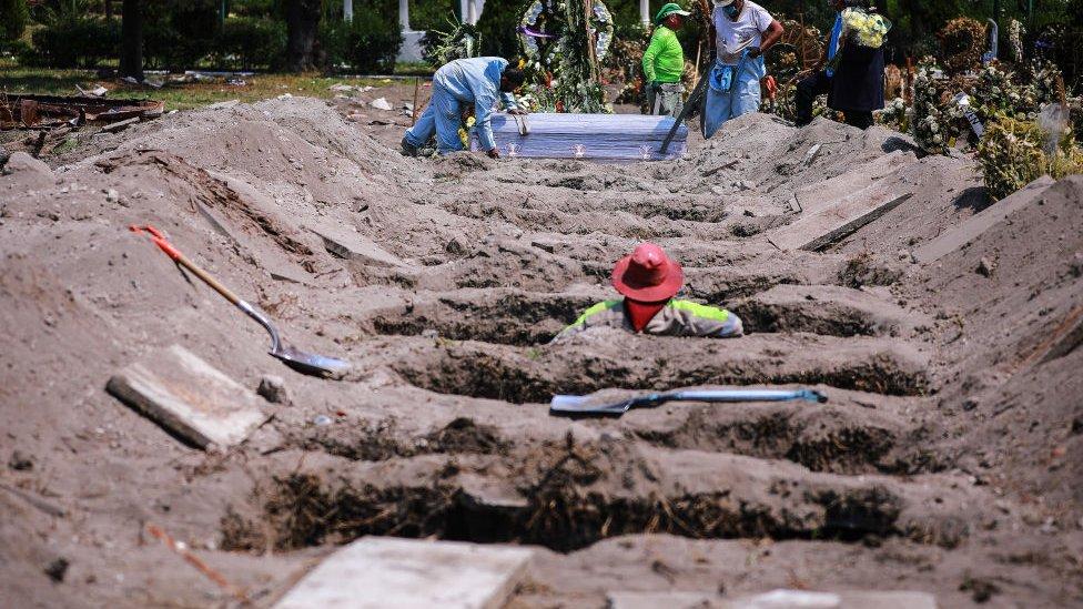 Enterramientos en Ciudad de México durante la pandemia.