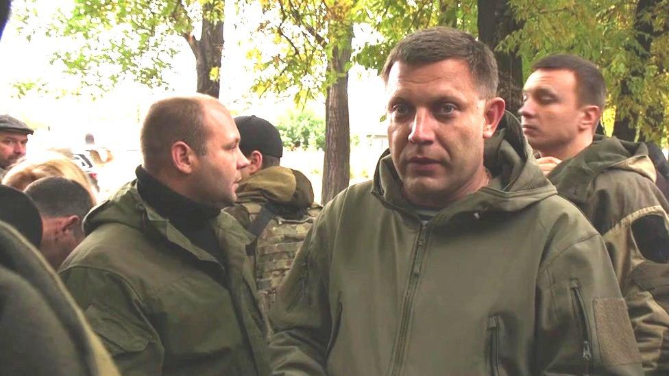 Aleksandr Zakharchenko, head of the self-proclaimed Donetsk People's Republic