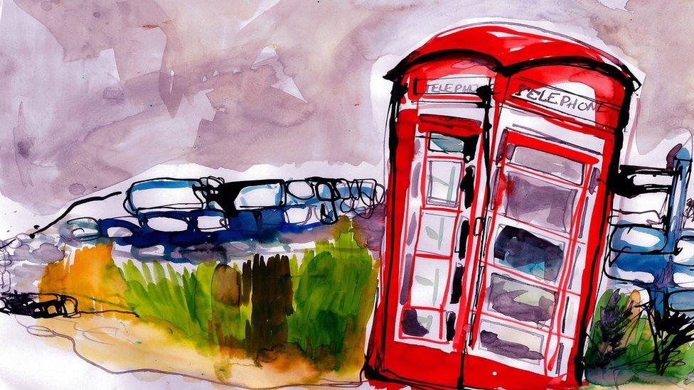 Ilustración de un paisaje londinense