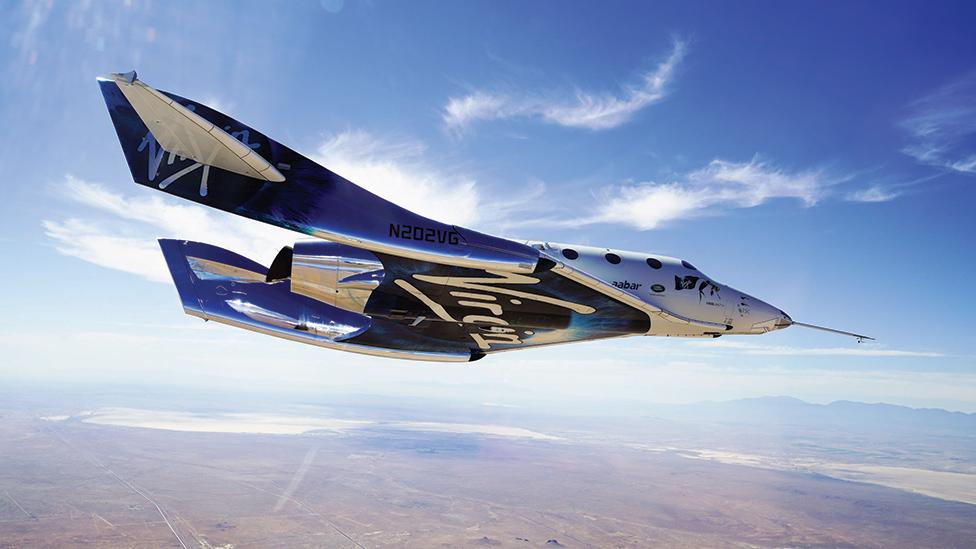 Virgin'in uçak aracı ilk defa dört yolcuyu uzaya çıkarıyor