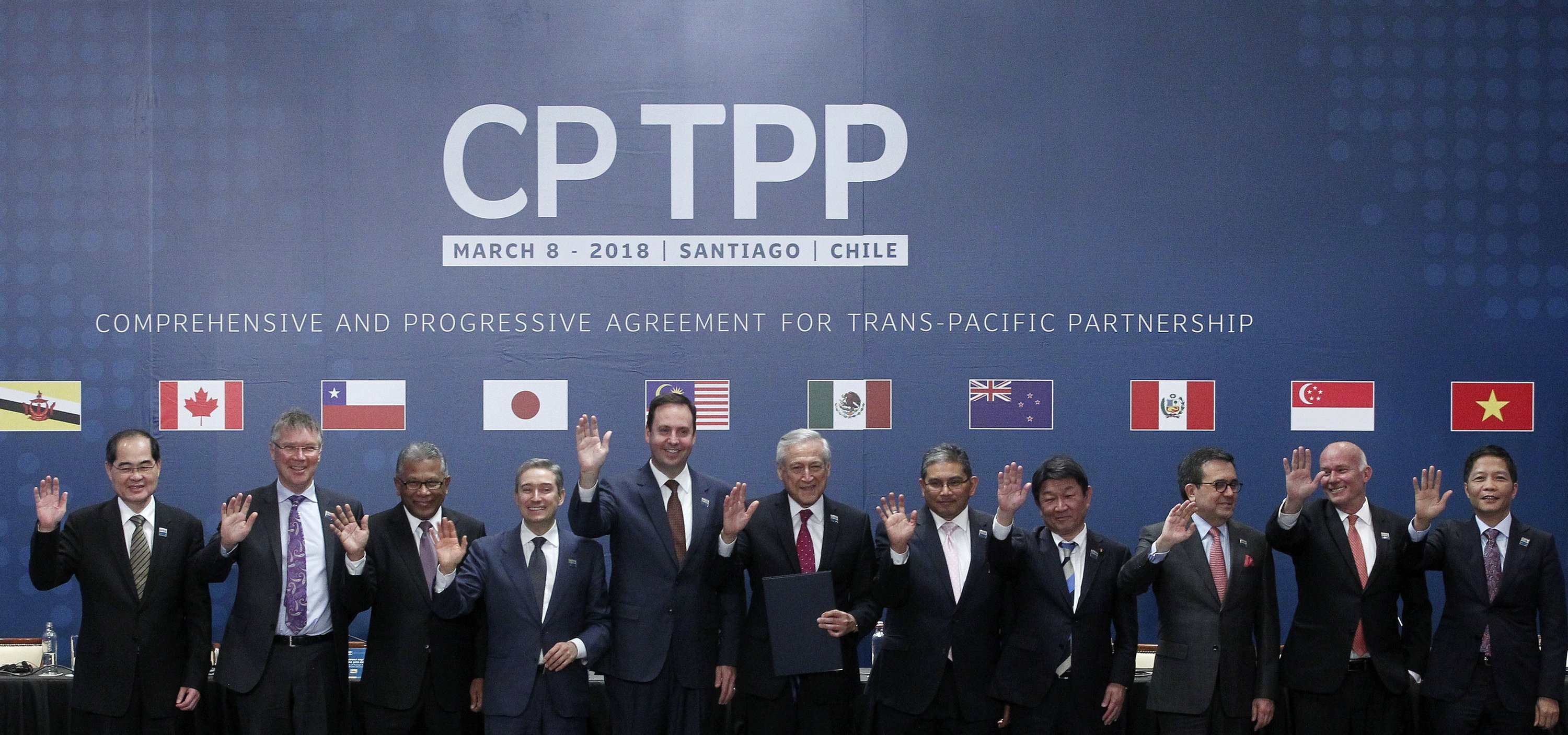 Representatives from CPTPP countries signed the rebranded Pacific trade pact in March 2018