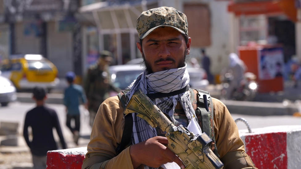 Taliban guard in Kabul