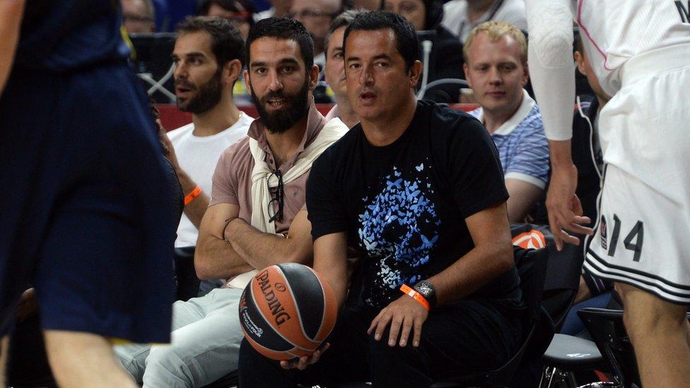 Acun Ilıcalı ve futbolcu Arda Turan