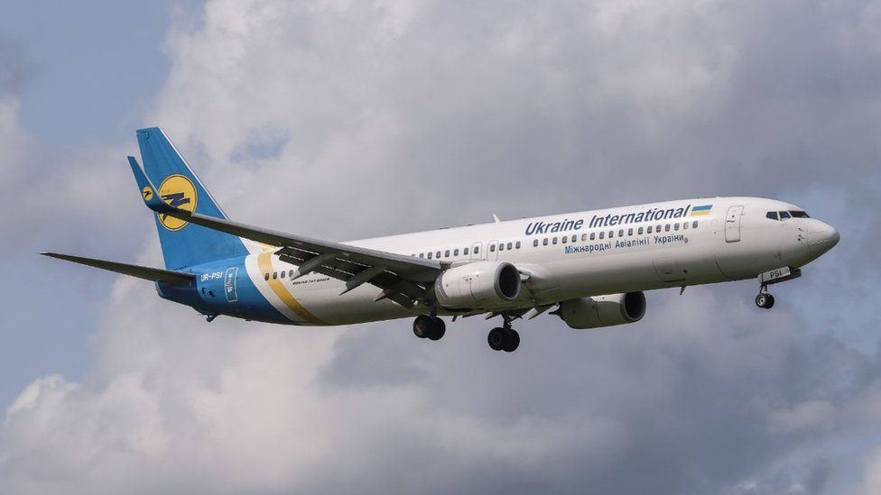 Avión de Ukraine International Airlines