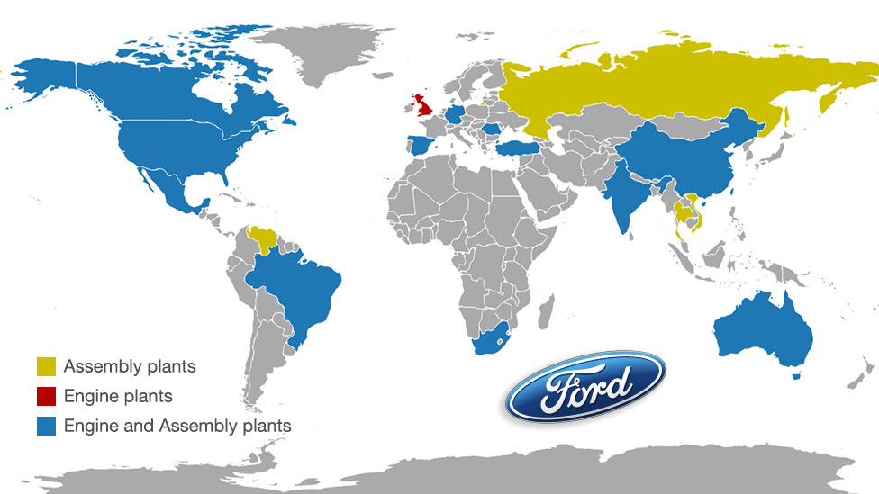 Ford global map