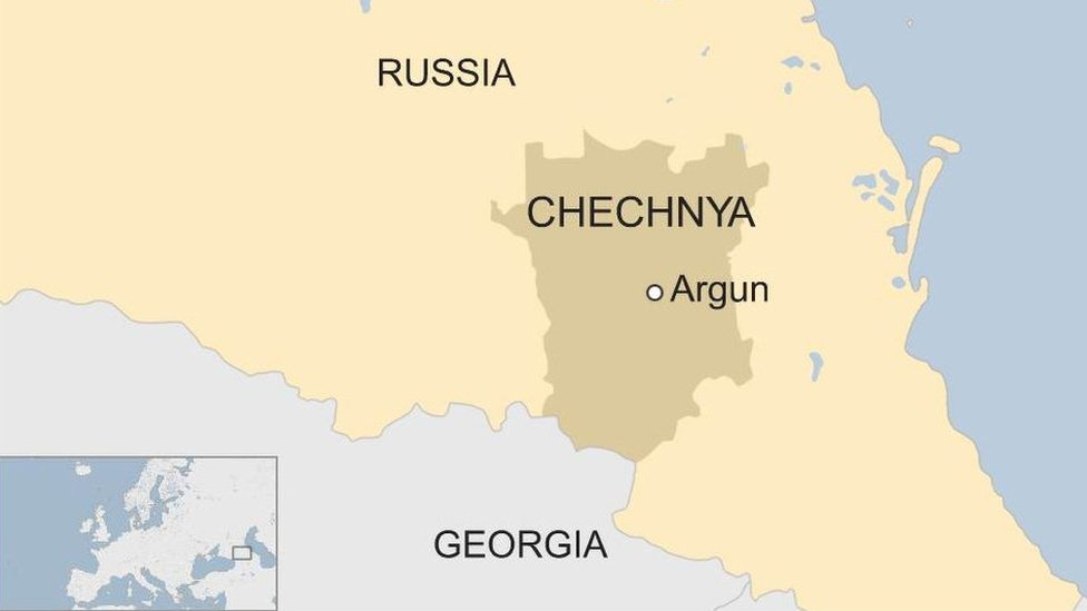 Chechnya map