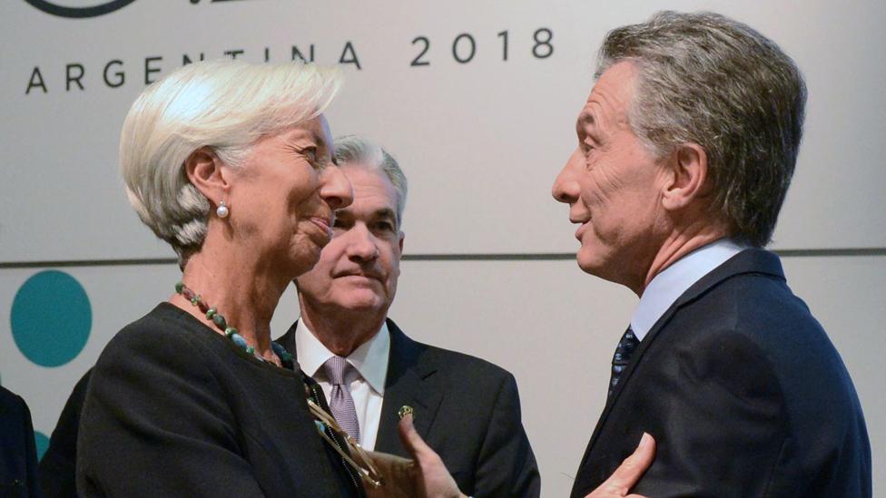 Mauricio Macri y Christine Lagarde