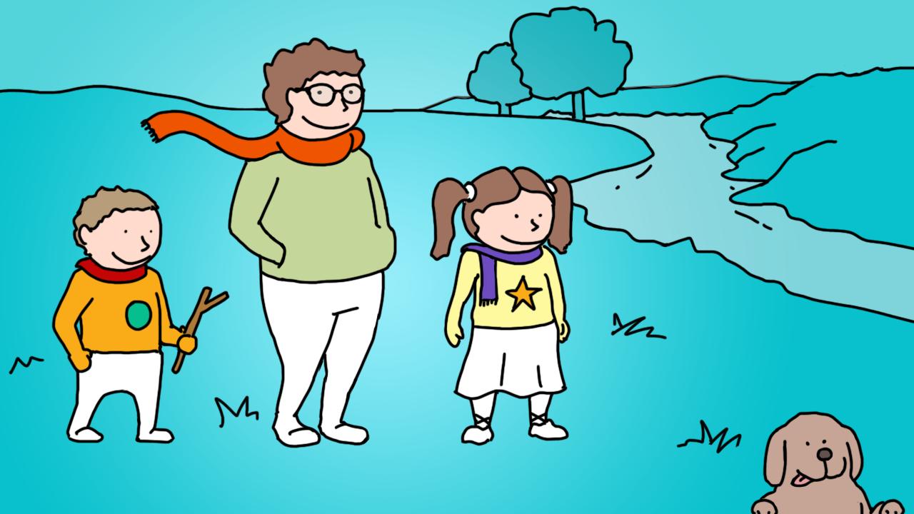 Ilustração de atividade ao ar livre
