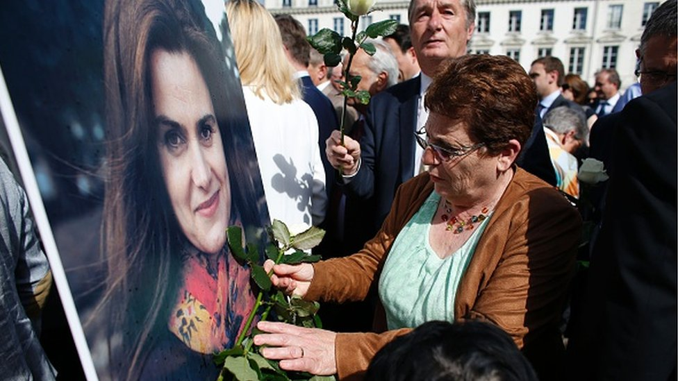 Mourners in Paris