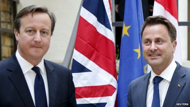 David Cameron meeting Luxembourg prime minister Xavier Bettel