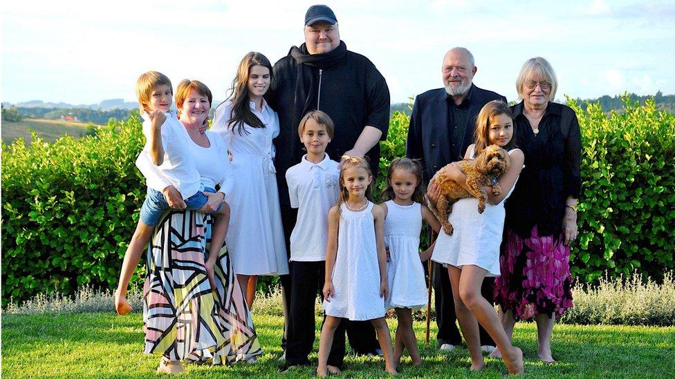 Kim Dotcom and his family