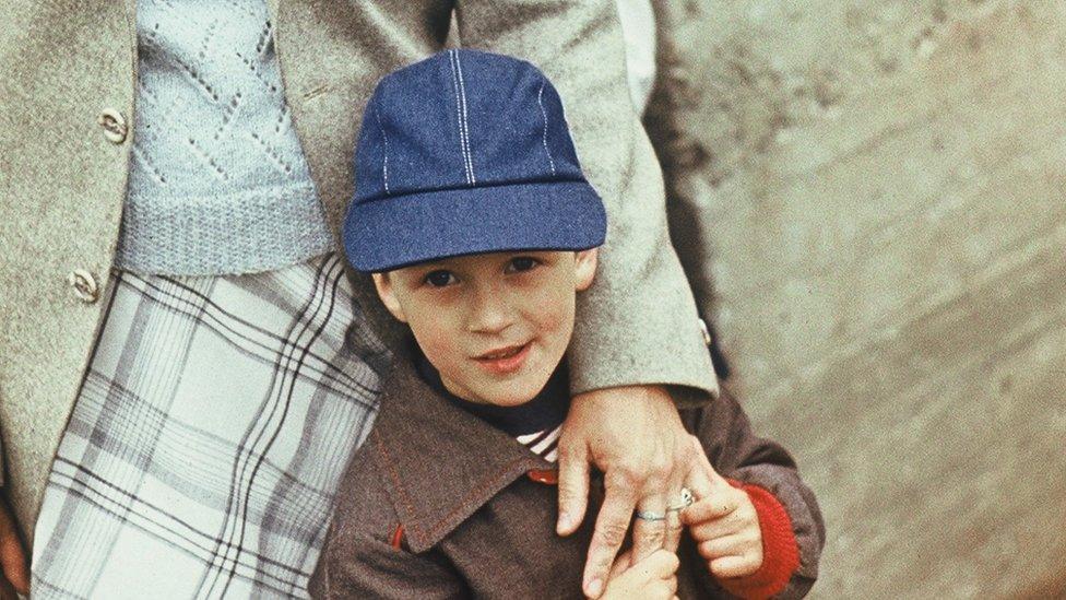Taavet Hinrikus as a young boy