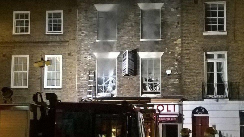 Fire crews tackle Westminster restaurant blaze
