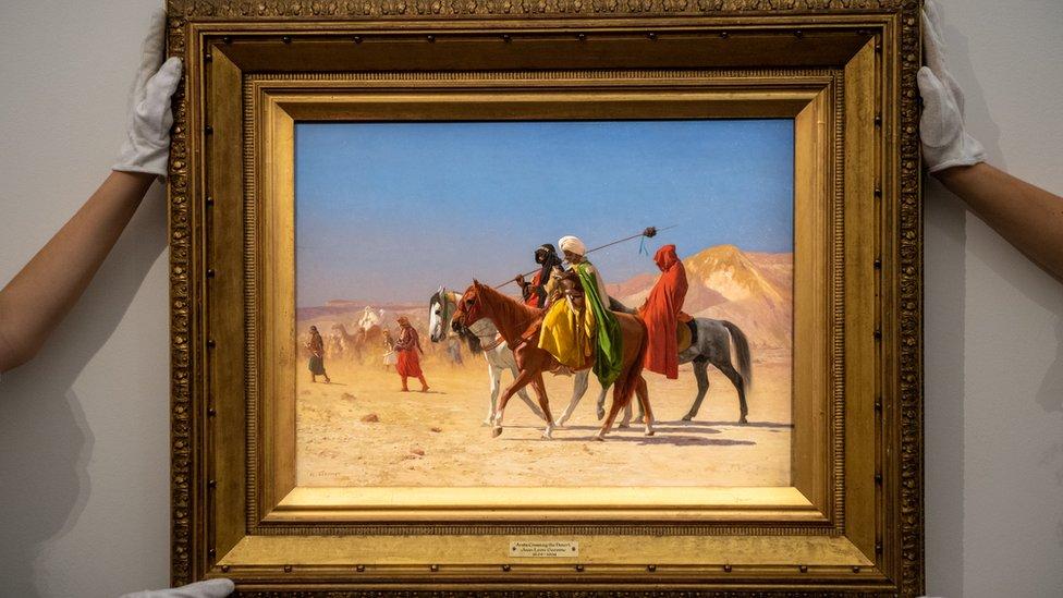 """بيعت لوحة """"فرسان يعبرون الصحراء"""" لجيروم بمبلغ 3.135.000 جنيه استرليني"""