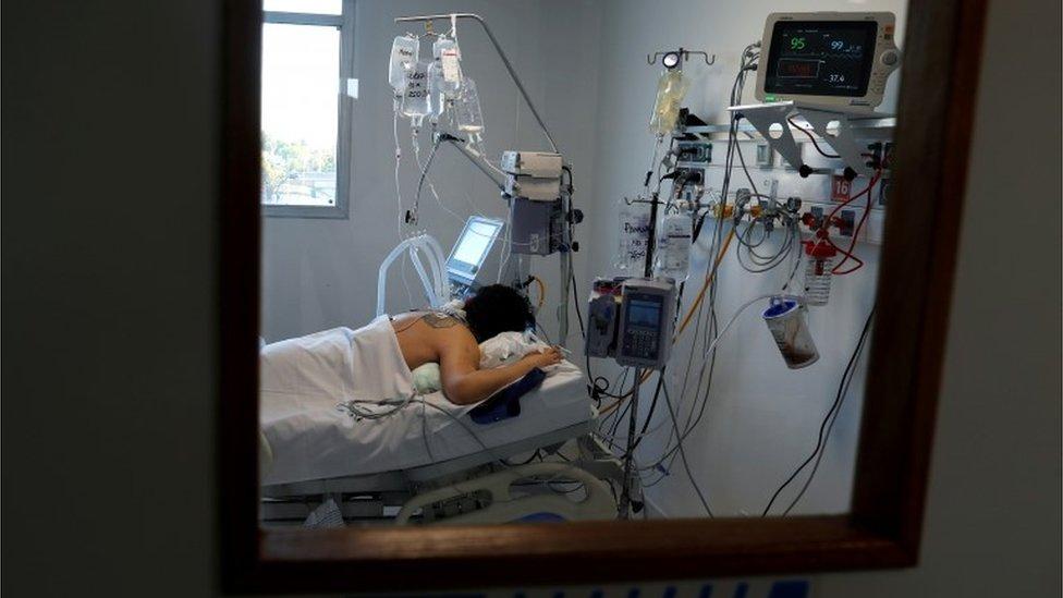 Un paciente hospitalizado en Buenos Aires
