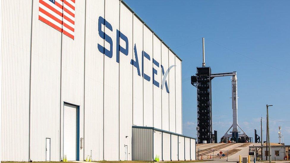 Instalaciones de Space X en Florida.