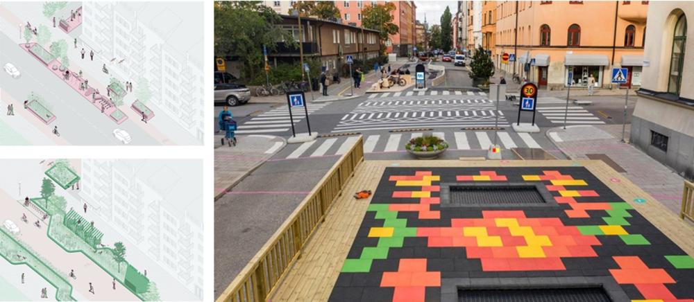Ilustración en imágenes de la ciudad de 1 minuto para las ciudades de Suecia