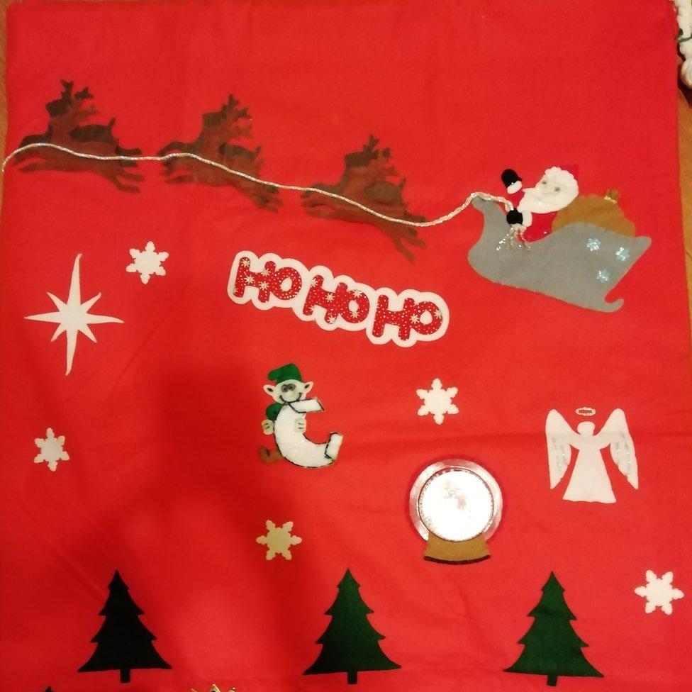Andrew's Christmas sack.